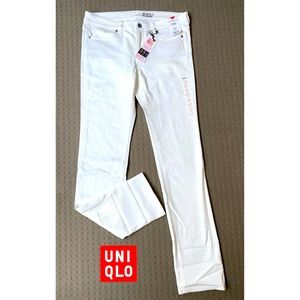 Uniqlo women white heattech skinny fit jeans W29